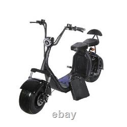 SoverSky 2000w Electric Fat Tire Scooter 60V/20Ah Lithium Motor Scooter X7 Black