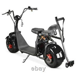 SoverSky 2 Wheel Golf Scooter Fat Tire Citycoco 2000W Lithium Scooter X7