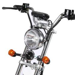 SoverSky Electric Bicycle 2000W 60V Lithium Fat Tire Citycoco Scooter SL1.0