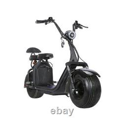 SoverSky Electric Citycoco Fat Tire Scooter 2000 watts 20 Ah Lithium US Flag