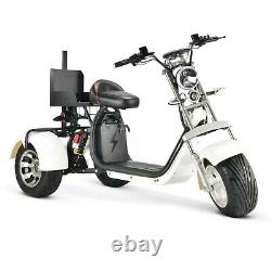 SoverSky Electric Golf Scooter 3 wheel Golf Cart 2000w Lithium 20Ah White T7.3