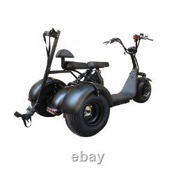 SoverSky Electric Senior Tricycle Adult 3 wheels Scooter 2000W Citycoco T7.0