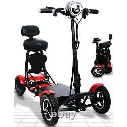 Sporty Electric 4 Wheel Mobility Scooter