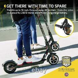 Swagtron High Speed Electric Scooter 8.5 Cushioned Tires Cruise Control SG-5S B