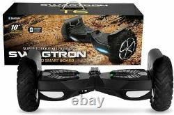Swagtron Hoverboard Off-Road Self-Balancing Electric Scooter Adults Outlaw T6 BK