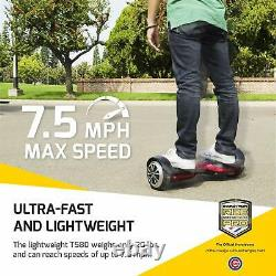 Swagtron Hoverboard T580 Adults Scooter 6-In Wheel with Bluetooth Speaker & App