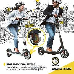 Swagtron SG5 Boost Commuter City Folding Electric Scooter with Upgraded 300W Motor