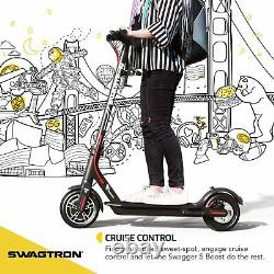 Swagtron SG5 Boost Folding Electric Scooter Adults Commuter E-Scooter 300W Motor