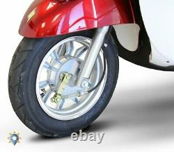Tricycle Adult Electric Trike 3 Wheel Bike Scooter Red White 18 Mph With Storage