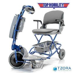 Tzora ELITE Easy Travel Folding Portable Electric Mobility Scooter & Free Gifts