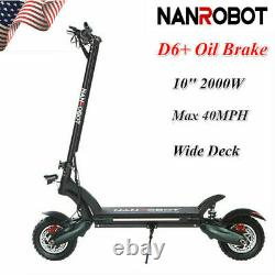 US NANROBOT D6+ Electric Scooter 2000W Adult Dual Motor Oil Brake Foldable 40MPH