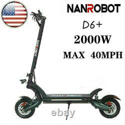 US NANROBOT D6+ Electric Scooter for Adult 52V 2000W 40MPH-Mechanical Brake