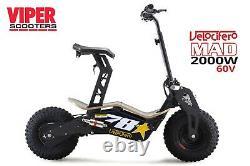Velocifero MAD 2000W 60V Lithium 20Ah Electric Scooter. VS
