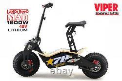 Velocifero Mad New 2020, 1600W 48V Lithium Electric Scooter, Terrain Tyres, VS