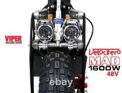 Velocifero Mad New 2020 Model, 1600W 48V Electric Scooter, ARMY VS