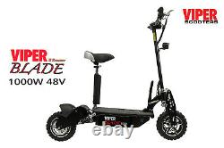 Viper Blade 1000W 48V Electric Scooter New 2020, All Terrain Tyres