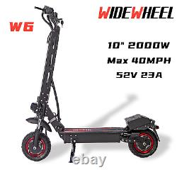 WIDEWHEEL W6 Electric Scooter 2000W Adult 10 Max Speed 40MPH 40Miles Dual Motor